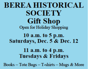 Buy local and support the Berea Historical Society!