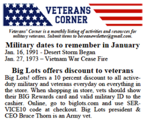 Veterans—Big Lots is offering a 10% discount to all active duty military and vet